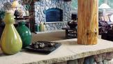 Fireplace, Walls & Beams